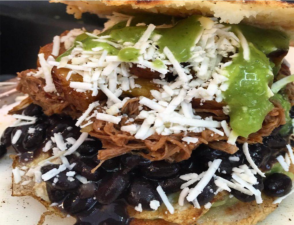 latin food arepa